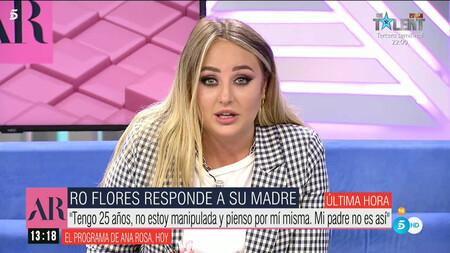 Rocio Flores Destrozada Paraliza Ana Rosa Con Un Mensaje A Su Madre Rocio Carrasco