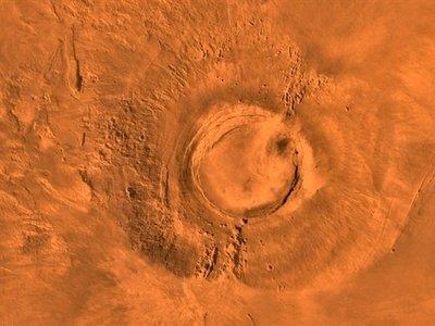Durante la época de los dinosaurios, este volcán estaba activo en Marte