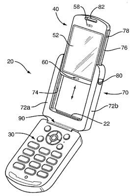 Patente Sony Ericsson de pantalla desmotable de móvil