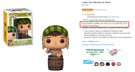 Funko Pop Chavo Del Ocho Amazon Mexico