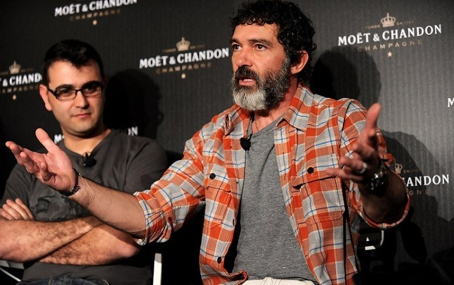 Manuel Sicilia y Antonio Banderas