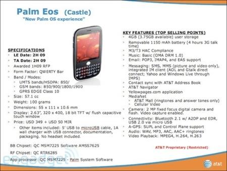 Palm Eos, ¿con qué sistema operativo llegará?