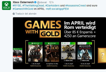 Games With Gold Abril 1