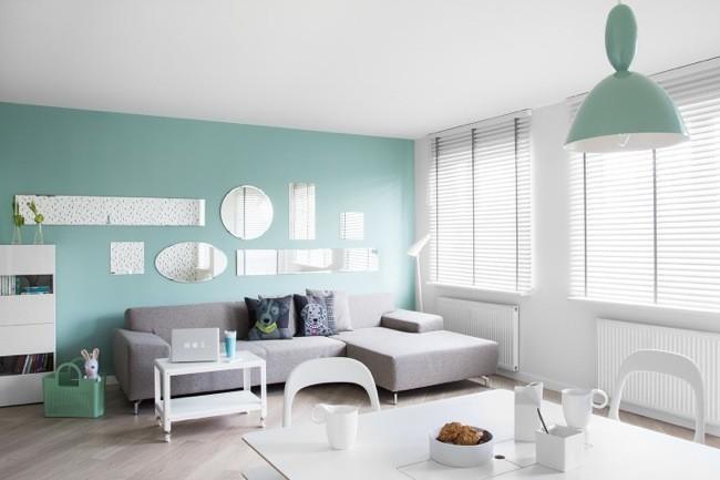 Papel pintado y colores pastel en un peque o apartamento - Como pintar un piso pequeno ...