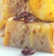Budín de manzana con nueces