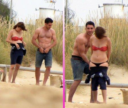 Miguel Ángel Silvestre luciendo tableta en la playa ¿Algo mejor para empezar el fin de semana?