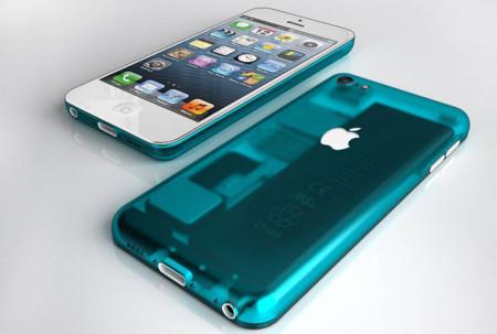 Concepto de un iPhone de bajo coste inspirado en el plástico traslúcido multicolor del iMac G3