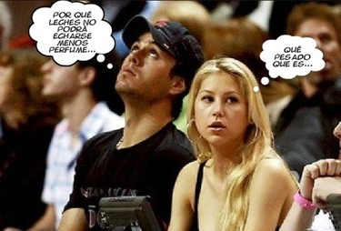 Enrique Iglesias no soporta el perfume de Anna Kournikova