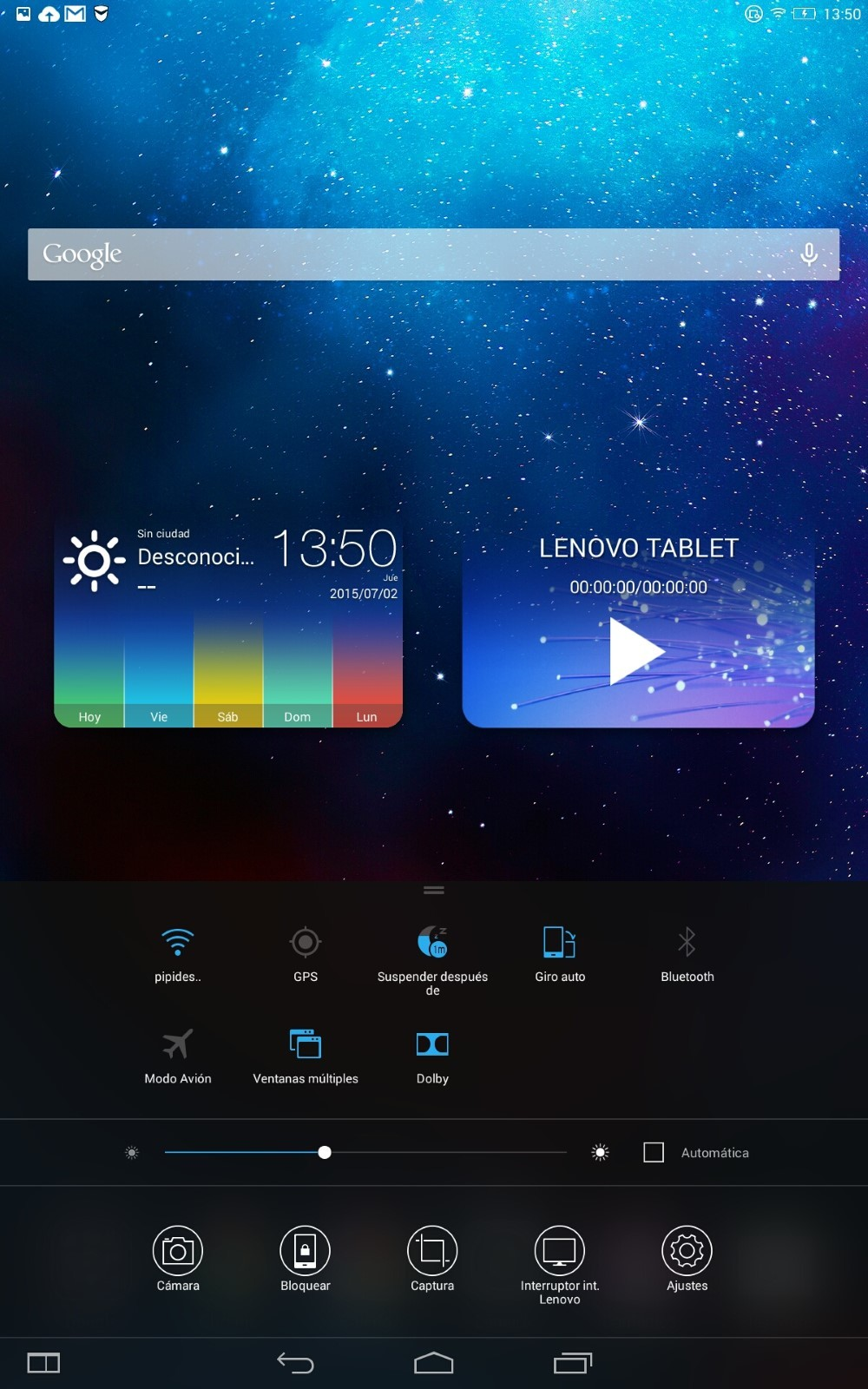 Capturas SO Lenovo Yoga Tablet 2