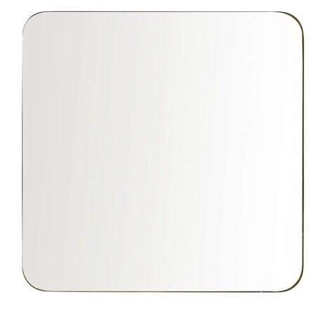 Espejo De Metal Dorado 110x110 1