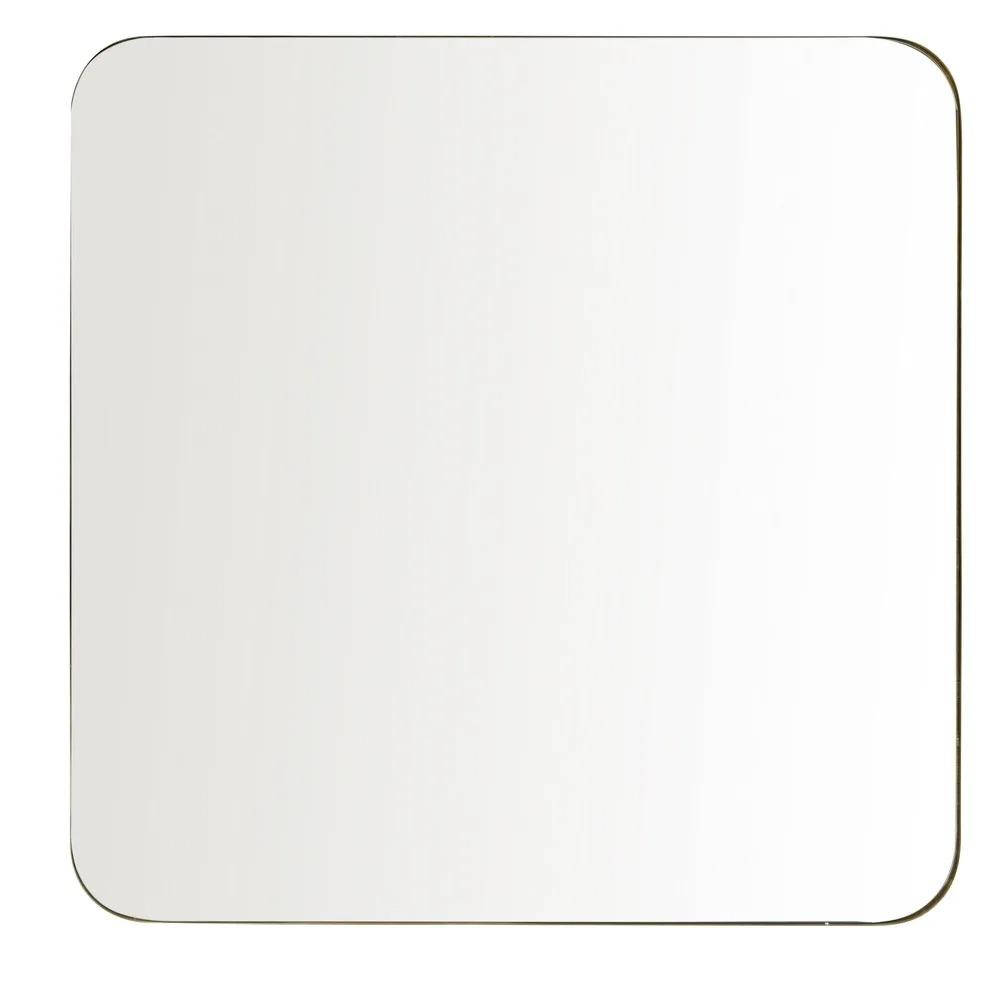 BROOKE.- Espejo de metal dorado 110x110
