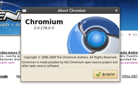 Chromium Browser - Acerca de