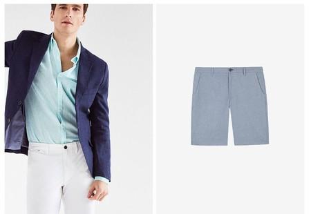 Cortefiel Se Entrega Por Completo Al Azul Para El Verano Con Looks Reinterpretados Por Los Basicos