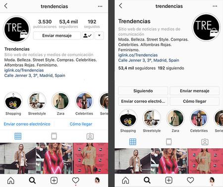 Comparativa Perfiles Instagram Nuevo Diseno