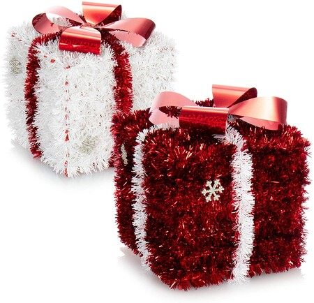 2X Regalo de decoración navideña