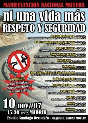 10-N, manifestación antiguardarraíles en Madrid