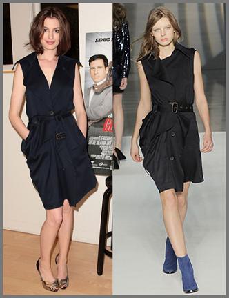 Anne Hathaway, nuevo peinado y dos looks diez