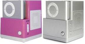 Altavoz para el iPod Shuffle y cámara espía en el cinturón