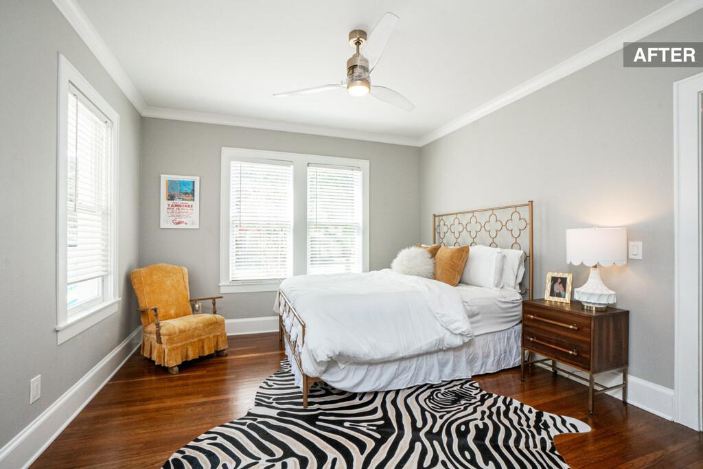 Antes y después: una habitación de matrimonio para invitados, sencilla y acogedora