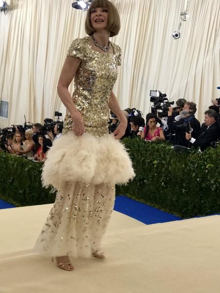 Anna Wintour, la primera en llegar a la Gala MET 2017 con un Chanel Alta Costura