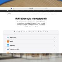 Apple publica las etiquetas de privacidad de todas sus apps reunidas en apple.com