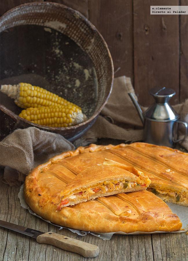 Empanada gallega de bonito y pimientos receta de cocina - Hacer mermelada de pimientos ...