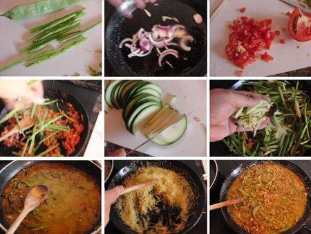 Fideuá de verduras