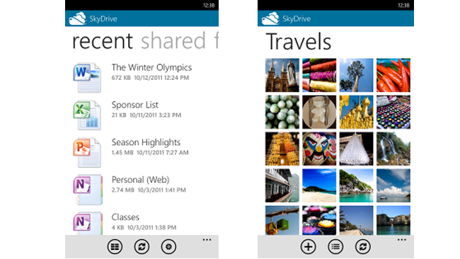 SkyDrive en Windows Phone