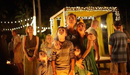 La familia protagonista antes del tsunami