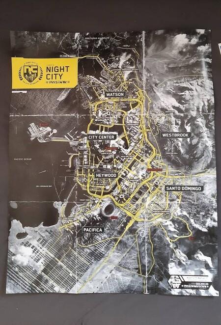 Cyberpunk 2077 Mapa