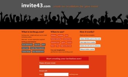Invite43, gestiona la lista de invitados a tus eventos