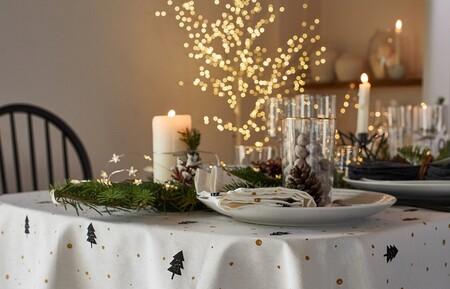 Decoramos nuestra mesa de Navidad con mantelería, vajillas y luces de La Redoute, El Corte Inglés o Maisons du Monde
