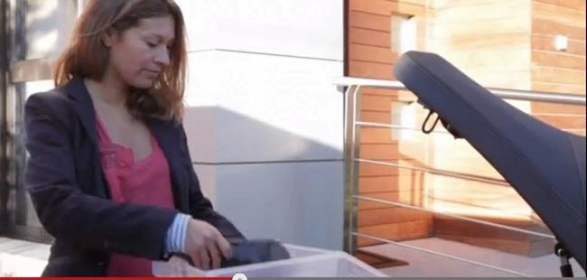 Scooter y cofre de carga
