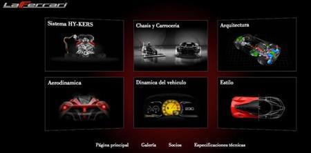 Ferrari LaFerrari, todos los detalles en el nuevo site en español