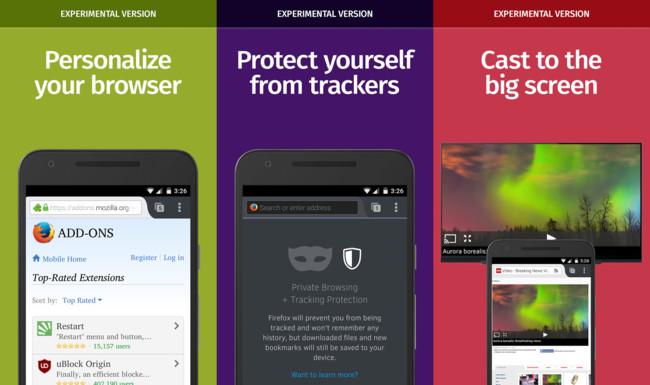 Firefox Aurora Android