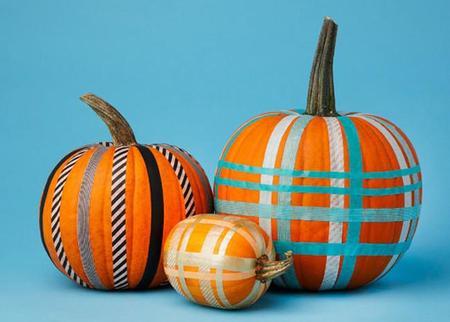 Manualidades de Halloween: decora calabazas con washi-tape