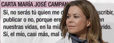 """María José Campanario rompe su silencio sobre Belén Esteban en 'El Programa de Ana Rosa': """"Mi carta es la respuesta a una amenaza"""""""