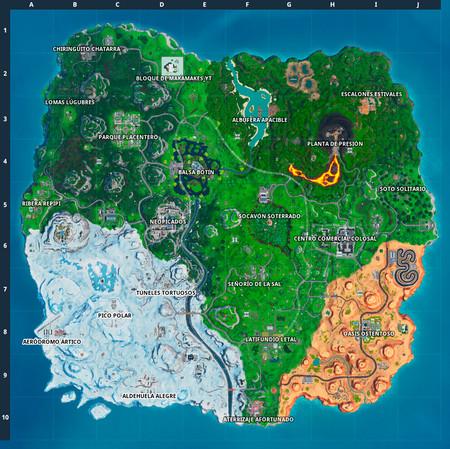 Temporada 9 Fortnite Mapa