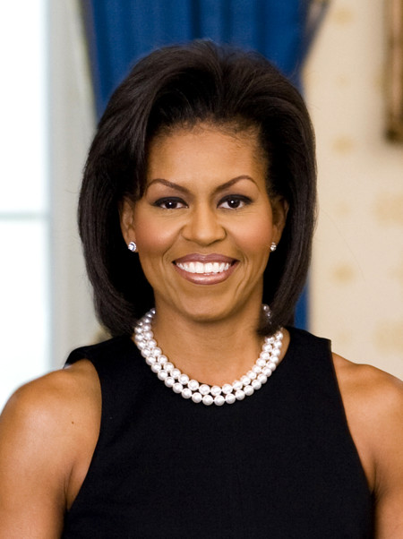 Michelle Obama Official Portrait Headshot