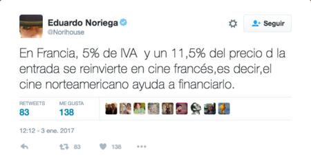 Tweet Eduardo Noriega Iva Frances