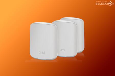 Monta una red Wi-Fi 6 mesh en casa con el pack de tres nodos NETGEAR Orbi RBK353, rebajado a 314,99 euros: su mínimo en Amazon