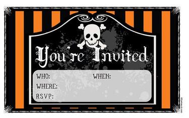 Invitaciones imprimibles para la fiesta de Halloween