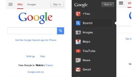 Google modifica la versión móvil de su página principal y le da más presencia a nuestra cuenta en Google+