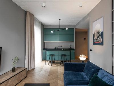 Magnífico apartamento en tonos grises y colores fríos