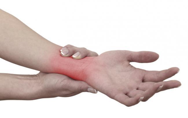 Muñeca dolor la mano la la y de entre superior parte