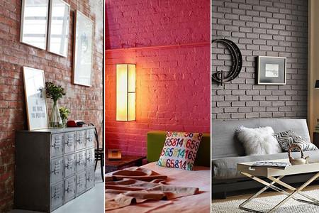 Buenos ejemplos de interiores con paredes de ladrillo visto