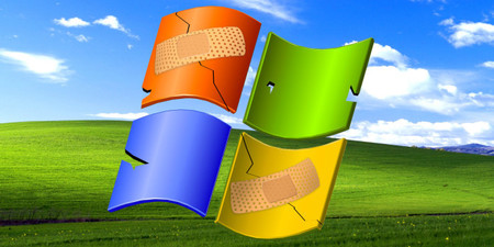 Logo de Windows con tiritas
