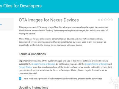 Google publica las imágenes OTA de sus Nexus para que puedas actualizar manualmente