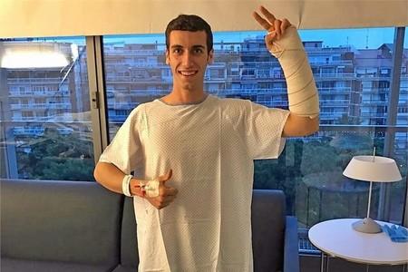 Hasta ocho semanas y tres GGPP de baja para Álex Rins tras pasar por el quirófano