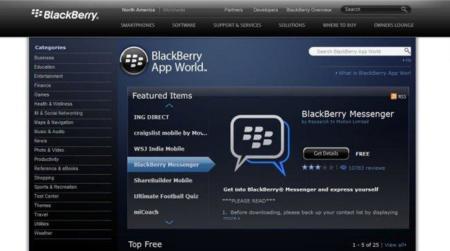 El BlackBerry App World se actualiza con códigos QR y aplicaciones más baratas